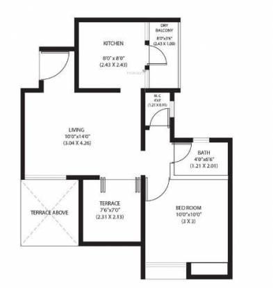 ARV Newtown (1BHK+1T (379.97 sq ft) Apartment 379.97 sq ft)