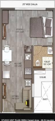 UK Iridium (1BHK+1T (281.48 sq ft) Apartment 281.48 sq ft)