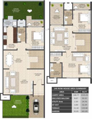 Mahindra Bloomdale Row House 6 (3BHK+3T (1,515.24 sq ft) Villa 1515.24 sq ft)