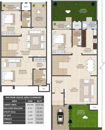 Mahindra Bloomdale Row House 6 (3BHK+3T (1,537.09 sq ft) Villa 1537.09 sq ft)