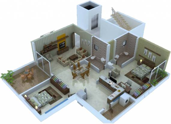 Abhijit Jayanti Nagari VI (2BHK+2T (576.33 sq ft) Apartment 576.33 sq ft)
