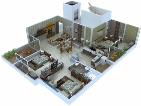 Abhijit Jayanti Nagari VI (3BHK+3T (839.47 sq ft) Apartment 839.47 sq ft)