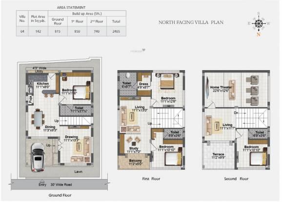 Rami Laxmi Ram Paradise (4BHK+4T (2,405 sq ft) Villa 2405 sq ft)