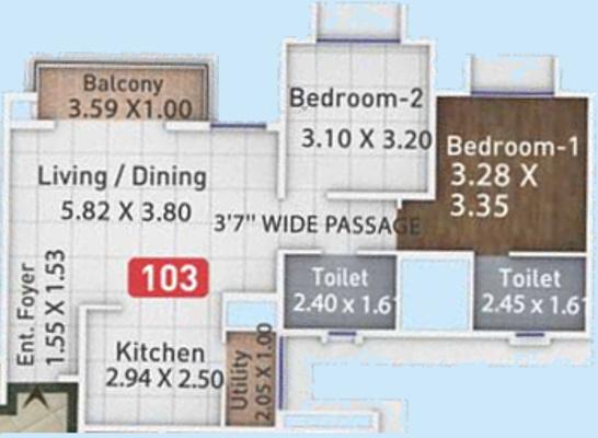 Pegasus Megapolis Mystic Phase 2 (2BHK+2T (716.45 sq ft) Apartment 716.45 sq ft)