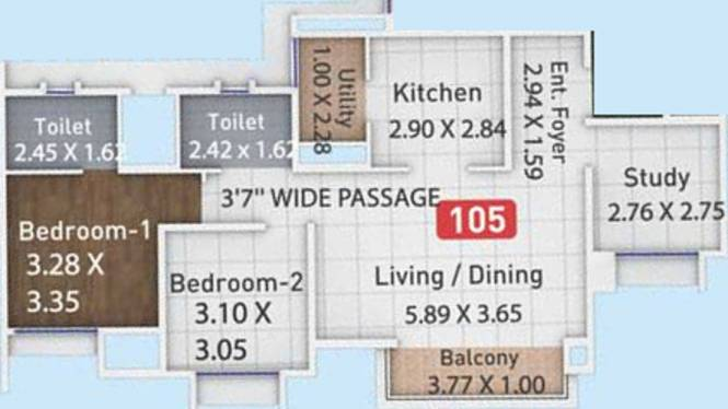 Pegasus Megapolis Mystic Phase 2 (2BHK+2T (833.34 sq ft) + Study Room Apartment 833.34 sq ft)