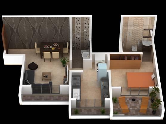 G K Mali and C K Mali Durga Imperial (1BHK+1T (359.95 sq ft) Apartment 359.95 sq ft)