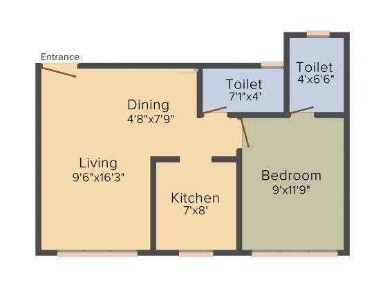 Parinee Essence (1BHK+1T (337.99 sq ft) Apartment 337.99 sq ft)