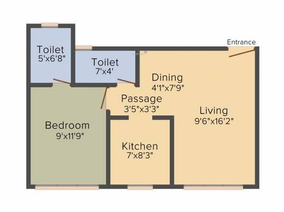 Parinee Essence (1BHK+1T (443.69 sq ft) Apartment 443.69 sq ft)