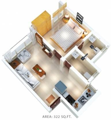 Shivalik Bandra North Gulmohar Avenue (1BHK+2T (322.49 sq ft) Apartment 322.49 sq ft)