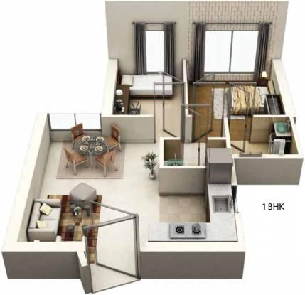 Siddha Seabrook Apartment (1BHK+1T (478.78 sq ft) + Study Room Apartment 478.78 sq ft)
