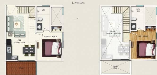 Geras Adara (2BHK+2T (542.50 sq ft) Apartment 542.5 sq ft)