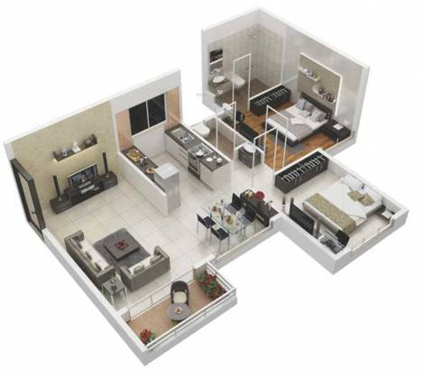Samraat Symphony Project 02 (2BHK+2T (524.74 sq ft) Apartment 524.74 sq ft)