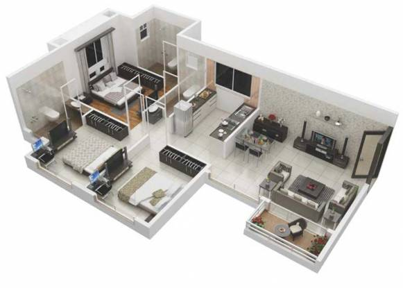 Samraat Symphony Project 02 (3BHK+3T (705.04 sq ft) Apartment 705.04 sq ft)
