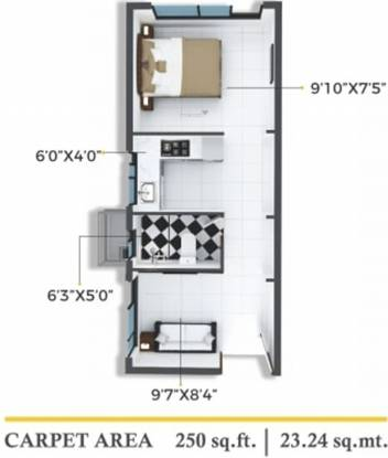 Xrbia Chembur Central Orchid A (1BHK+1T (250.15 sq ft) Apartment 250.15 sq ft)