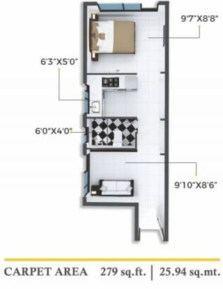 Xrbia Chembur Central Orchid B (1BHK+1T (279.22 sq ft) Apartment 279.22 sq ft)