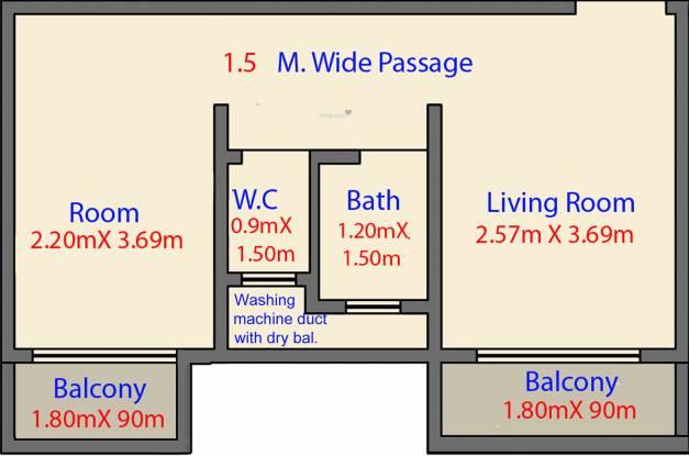 Labdhi Gardens Phase 1 (1RK+1T (216.79 sq ft) Apartment 216.79 sq ft)