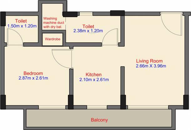 Labdhi Gardens Phase 1 (1BHK+2T (333.79 sq ft) Apartment 333.79 sq ft)
