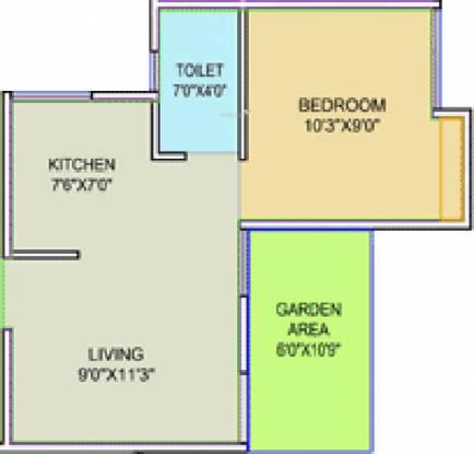 Pristine Purvrang Part 1 (1BHK+1T (300.21 sq ft) Apartment 300.21 sq ft)