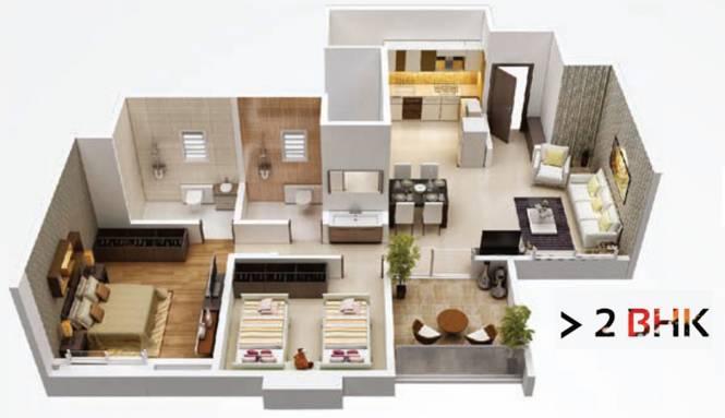 Sampada Little Earth Masulkar City Phase 3 (2BHK+2T (473.50 sq ft) Apartment 473.5 sq ft)