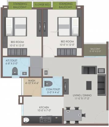 Shree Balaji Skyrise (2BHK+2T (1,178 sq ft) Apartment 1178 sq ft)
