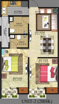 Freedom Homes Freedom Homes (2BHK+2T (850 sq ft) Apartment 850 sq ft)