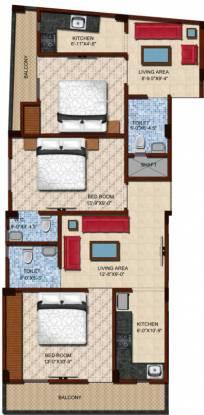 Maa Bhagwati Residency (3BHK+3T (900 sq ft) Apartment 900 sq ft)