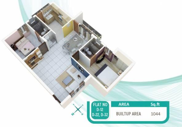Indira One North (2BHK+2T (1,044 sq ft) Apartment 1044 sq ft)