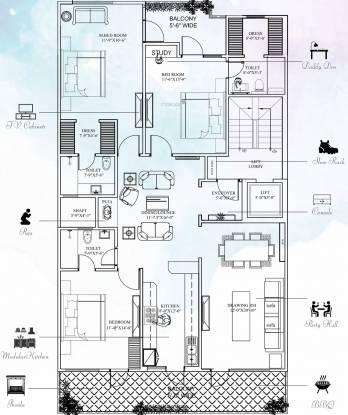 Whitehousz Whitehousz Floors 2 (3BHK+3T (2,160 sq ft) Apartment 2160 sq ft)