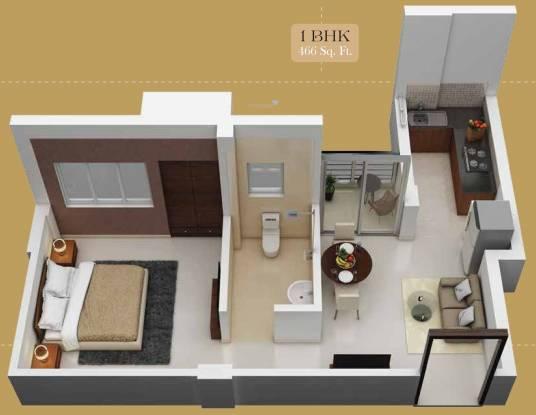 Jai Vinayak Golden Acres (1BHK+1T (466 sq ft) Apartment 466 sq ft)