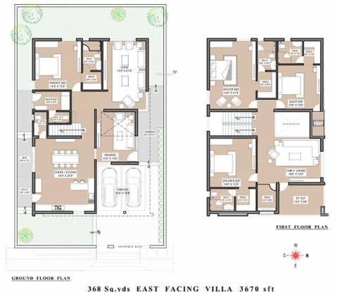 Vertex Capital County Villa (4BHK+5T (3,670 sq ft) + Servant Room Villa 3670 sq ft)