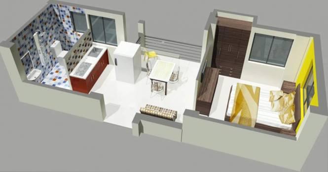 RR Astha Apartment (1BHK+1T (440 sq ft) Apartment 440 sq ft)