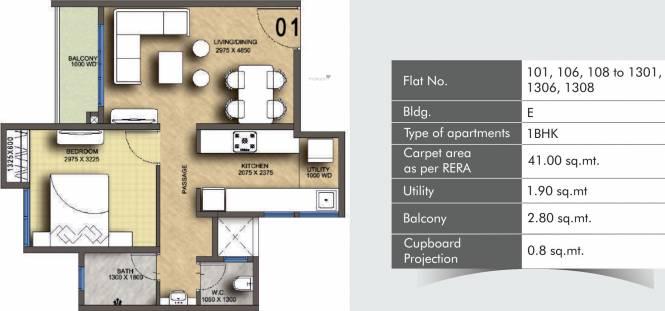 Pegasus Megapolis Springs (1BHK+1T (441.32 sq ft) Apartment 441.32 sq ft)