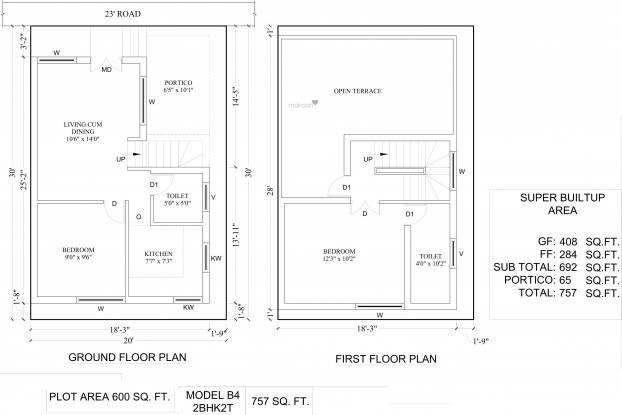 Amazze Abi Krishna Villas (2BHK+2T (757 sq ft) Villa 757 sq ft)