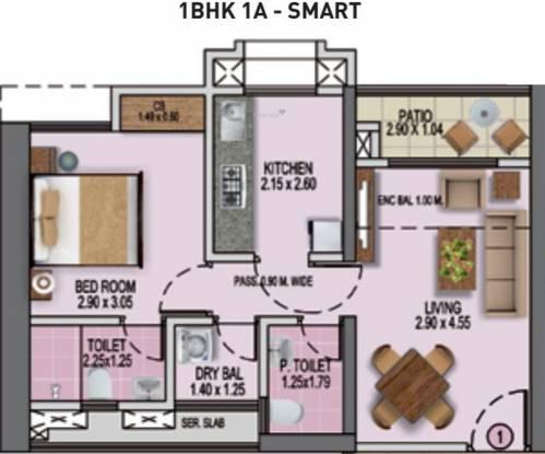 Puraniks Rumah Bali Phase 3 (1BHK+1T (369.74 sq ft) Apartment 369.74 sq ft)