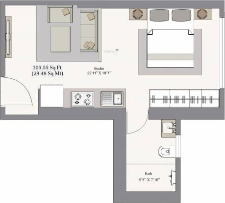 Piramal Revanta Tower 2 (1BHK+1T (306.56 sq ft) Apartment 306.56 sq ft)