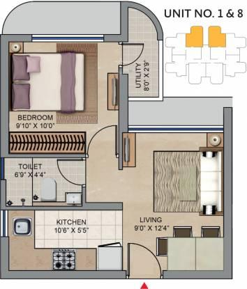 Lodha Codename Move Up (1BHK+1T (343 sq ft) Apartment 343 sq ft)