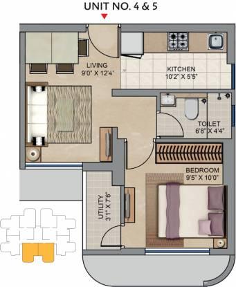Lodha Codename Move Up (1BHK+1T (342 sq ft) Apartment 342 sq ft)