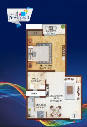 Laurel Provinces (1BHK+1T (565 sq ft) Apartment 565 sq ft)