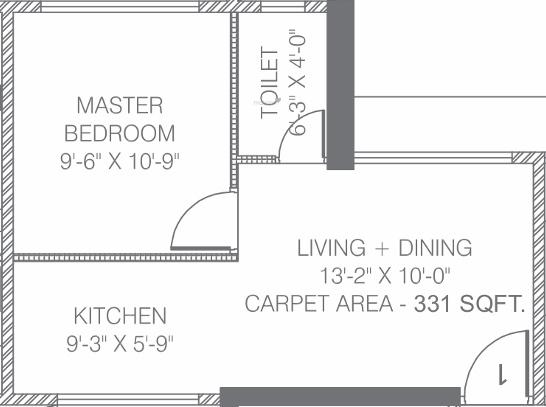 Asshna Samadhan (1BHK+1T (331 sq ft) Apartment 331 sq ft)