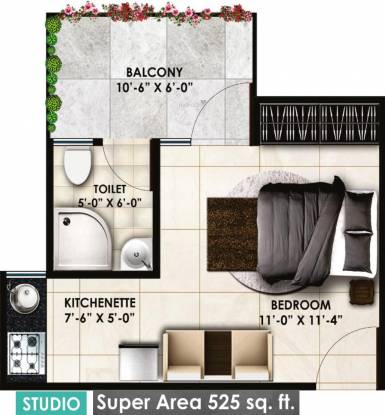 Delhi Delhi Gate (1BHK+1T (525 sq ft) Apartment 525 sq ft)