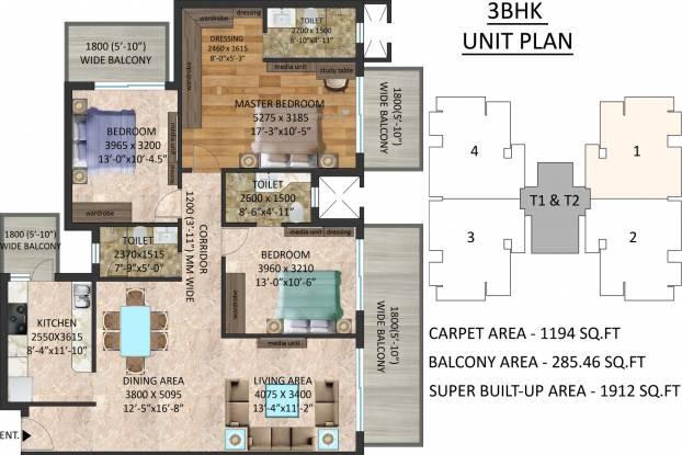 Stanford Amaara Residences (3BHK+3T (1,912 sq ft) Apartment 1912 sq ft)