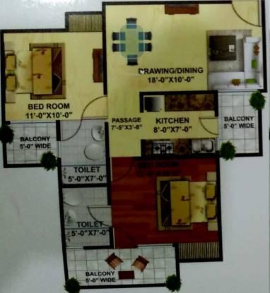 Wall Rock Aishwaryam (2BHK+2T (1,095 sq ft) Apartment 1095 sq ft)