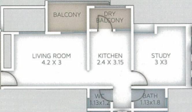 Stargaze Royal Glen (1BHK+1T (392.13 sq ft) Apartment 392.13 sq ft)