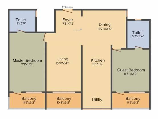 Esteem Splendor I (2BHK+2T (1665 sq ft) Apartment 1665 sq ft)