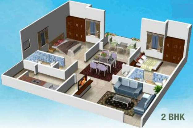 Kruthi Sai Cambridge Residency (2BHK+2T (1,119 sq ft) Apartment 1119 sq ft)