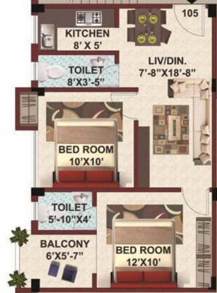 SK Royal Arcade (2BHK+2T (760 sq ft) Apartment 760 sq ft)