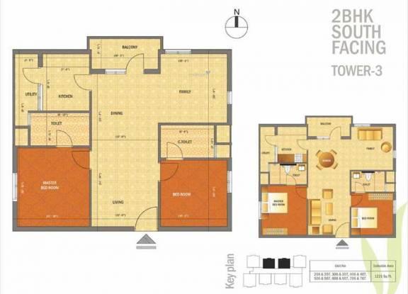Phoenix The Village (2BHK+2T (1,221 sq ft) Apartment 1221 sq ft)