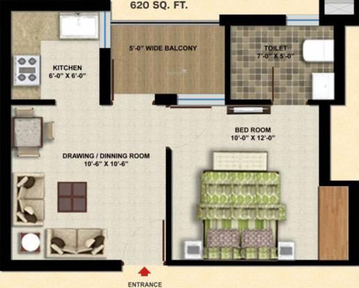 SBP City Of Dreams 2 (1BHK+1T (620 sq ft) Apartment 620 sq ft)
