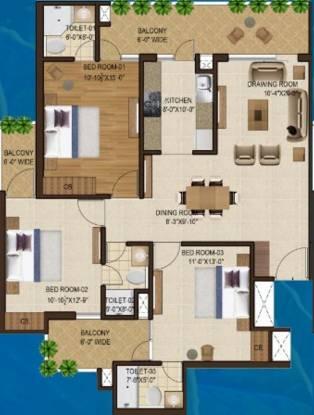 Motia Blue Ridge (3BHK+3T (1,611 sq ft) Apartment 1611 sq ft)