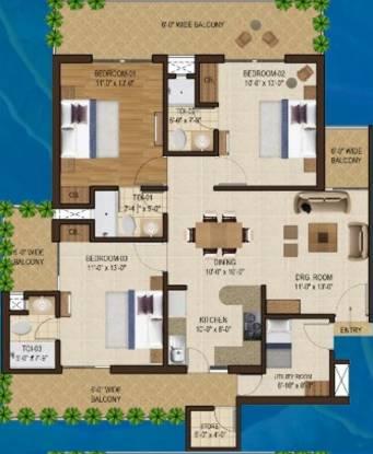Motia Blue Ridge (3BHK+3T (1,721 sq ft) Apartment 1721 sq ft)
